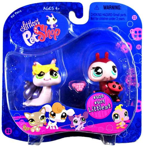 Littlest Pet Shop Pet Pairs Snail & Ladybug Figure 2-Pack #628, 629