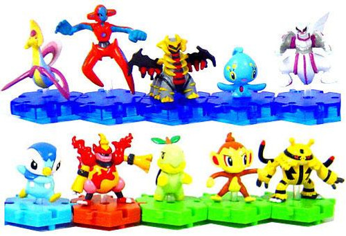 Pokemon Japanese Connecting Figures Series 3 Set of 10 Connecting PVC Figures