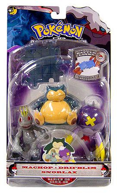 Pokemon Diamond & Pearl Series 8 Snorlax, Machop & Drifblim Figure 3-Pack