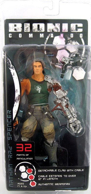 NECA Bionic Commando Player Select Nathan Spencer Action Figure