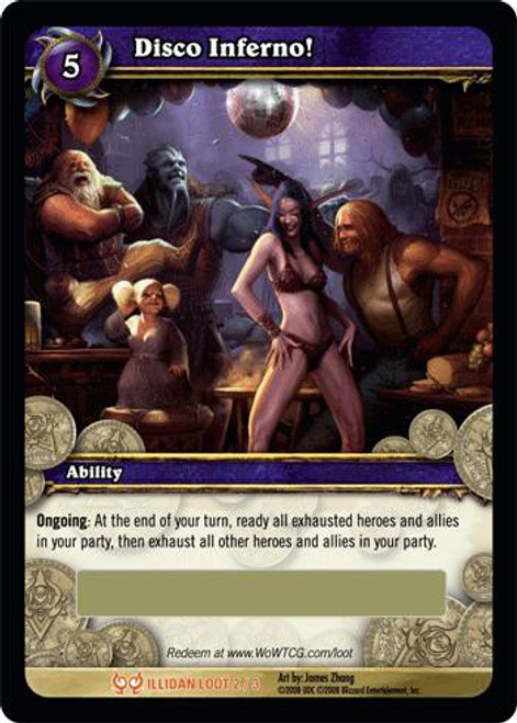 World of Warcraft Trading Card Game The Hunt for Illidan Legendary Loot Disco Inferno! #2