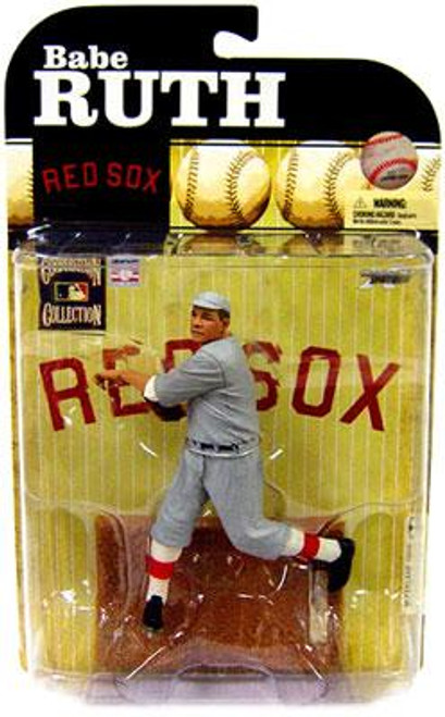 McFarlane Toys MLB Cooperstown Collection Series 6 Babe Ruth (Boston Red Sox) Action Figure [Gray Red Sox Uniform]