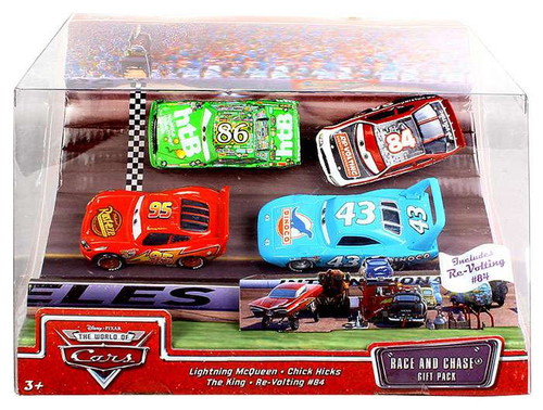 Disney Cars The World of Cars Multi-Packs Race and Chase 4-Pack Diecast Car Set