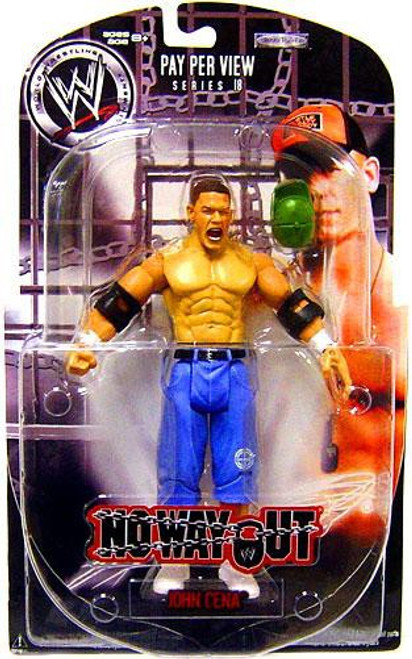WWE Wrestling Pay Per View Series 18 No Way Out John Cena Action Figure