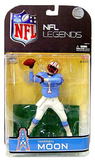 McFarlane Toys NFL Houston Oilers Sports Picks Legends Series 4 Warren Moon Action Figure [Blue Sleeves Variant]