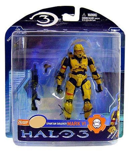 McFarlane Toys Halo 3 Series 2 Spartan Soldier MARK VI Exclusive Action Figure [Yellow]