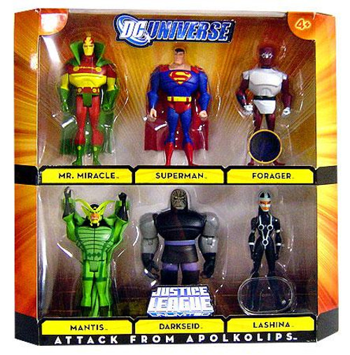 DC Universe Justice League Unlimited Attack From Apokolips Exclusive Action Figure Set