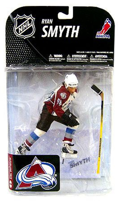 McFarlane Toys NHL Colorado Avalanche Sports Picks Series 19 Ryan Smyth Action Figure [White Jersey Variant]