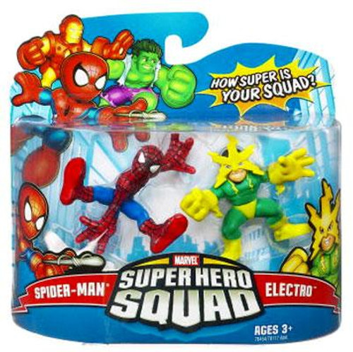 Marvel Super Hero Squad Series 9 Spider-Man & Electro Action Figure 2-Pack