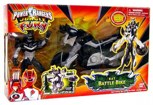 Power Rangers Jungle Fury Bat Battle Bike Action Figure Vehicle