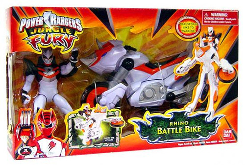 Power Rangers Jungle Fury Rhino Battle Bike Action Figure Vehicle