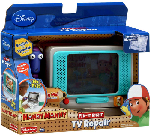Fisher Price Handy Manny Fix-It Right TV Repair Roleplay Toy