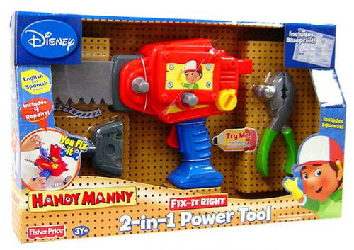 Fisher Price Handy Manny Fix-It Right 2-In-1 Power Tool Roleplay Toy