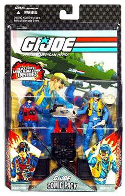 GI Joe 25th Anniversary Wave 6 Comci Pack Scrap Iron & Wild Bill Action Figure 2-Pack