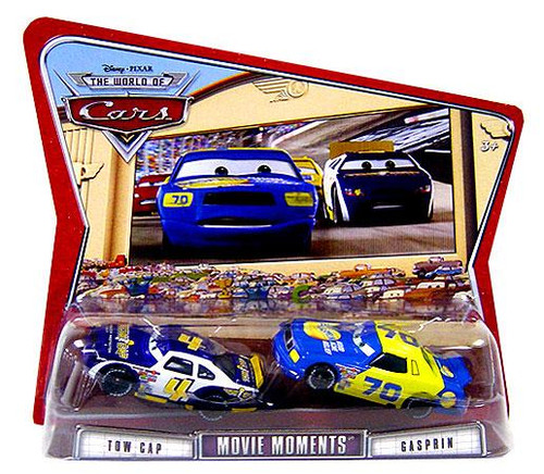 Disney Cars The World of Cars Movie Moments Tow Cap & Gasprin Diecast Car 2-Pack