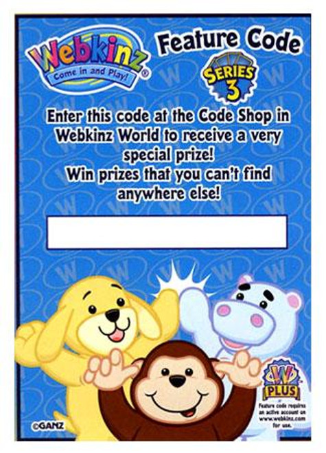 Webkinz Trading Card Game Series 3 Code Card