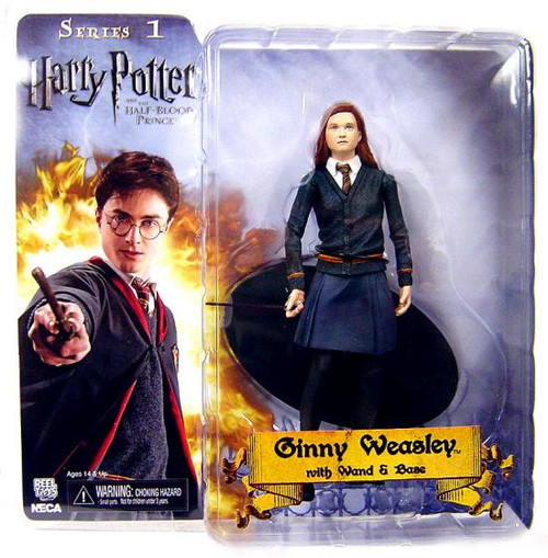 NECA Harry Potter The Half Blood Prince Ginny Weasley Action Figure [With Wand & Base]