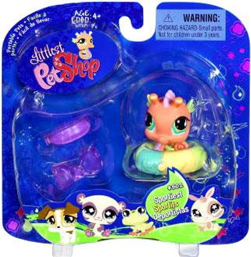 Littlest Pet Shop 2009 Assortment A Series 1 Seahorse Figure #802 [Beach Tube]