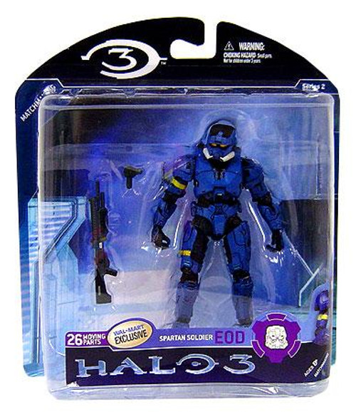 McFarlane Toys Halo 3 Series 2 Spartan Soldier EOD Exclusive Action Figure [Blue]