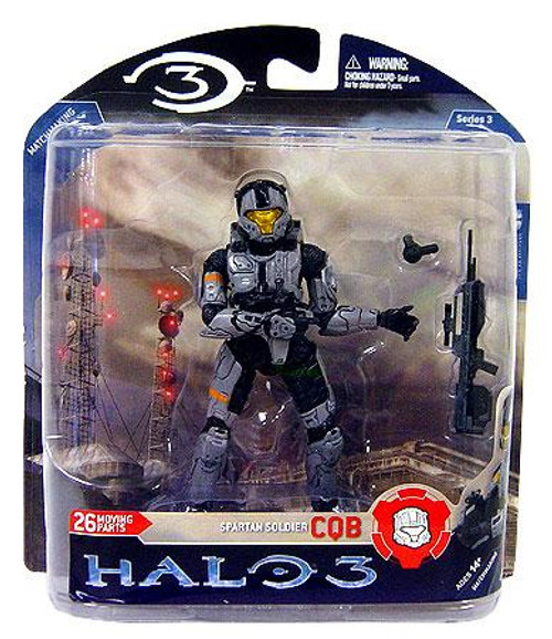 McFarlane Toys Halo 3 Series 3 Spartan Soldier CQB Exclusive Action Figure [Silver]