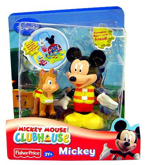 Fisher Price Disney Mickey Mouse Clubhouse Mickey with Dog Figure 2-Pack