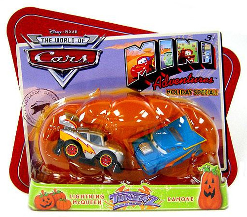 Disney Cars The World of Cars Mini Adventures Tunerz Exclusive Plastic Car 2-Pack [Lightning McQueen & Ramone]