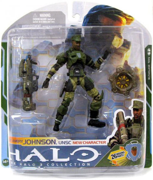 McFarlane Toys Halo 3 Series 5 Sgt. Avery Johnson UNSC Action Figure