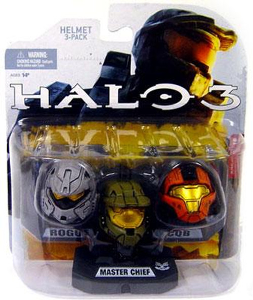 McFarlane Toys Halo Wave 1 Master Chief, Rogue & CQB 12-Inch Helmet 3-Pack