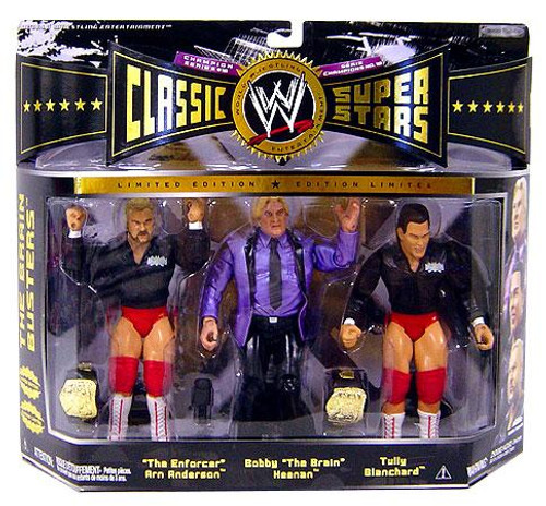 WWE Wrestling Classic Superstars Champion Series 10 Brain Busters Exclusive Action Figure 3-Pack