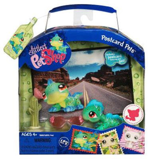Littlest Pet Shop Postcard Pets Series 1 Iguana Figure