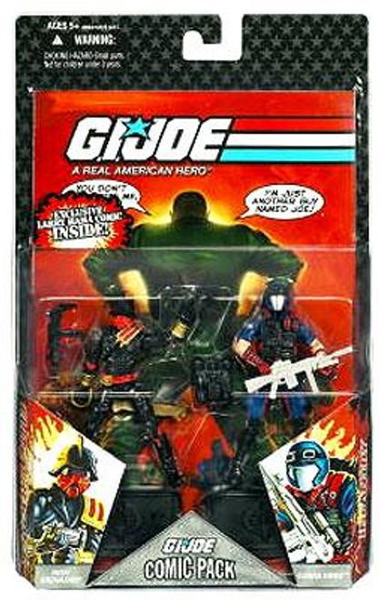 GI Joe 25th Anniversary Wave 7 Comic Pack Iron Grenadier & Viper Action Figure 2-Pack