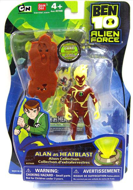 Ben 10 Alien Force Alien Collection Alan as Heatblast Action Figure