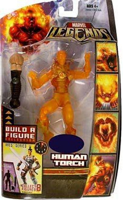 Marvel Legends Ares Build a Figure Human Torch Exclusive Action Figure