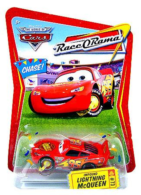 Disney Cars The World of Cars Action Agents Impound Lightning McQueen Diecast Car #73 [Race-O-Rama]