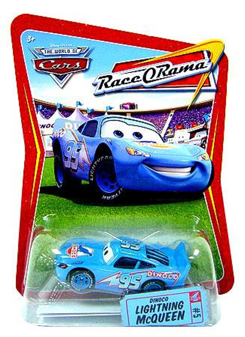 Disney Cars The World of Cars Race-O-Rama Dinoco Lightning McQueen Diecast Car #5