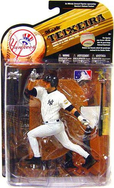 McFarlane Toys MLB New York Yankees Sports Picks Series 25 Mark Teixeira Action Figure [White Jersey]