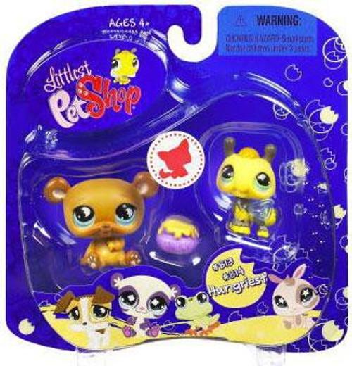 Littlest Pet Shop 2009 Assortment A Series 2 Bee & Bear Figure 2-Pack #813, 814 [Honey Pot]