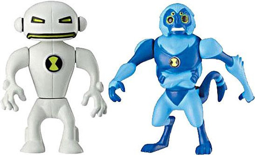 Ben 10 Alien Force Alien Creation Chamber Spidermonkey & Echo Echo Mini Figure 2-Pack