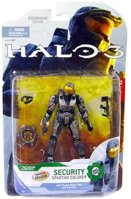 McFarlane Toys Halo 3 Series 4 Spartan Soldier Security Exclusive Action Figure [Steel]