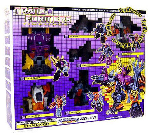 Transformers Timelines Collector's Club Exclusives Seacon Superwarrior Piranacon Exclusive Action Figure Set