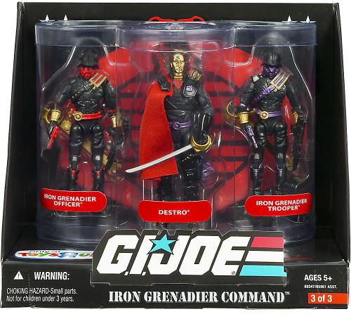 GI Joe Iron Grenadier Command Exclusive Action Figure 3-Pack