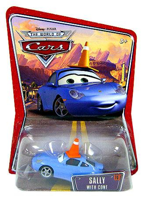 Disney Cars The World of Cars Series 1 Sally with Cone Diecast Car