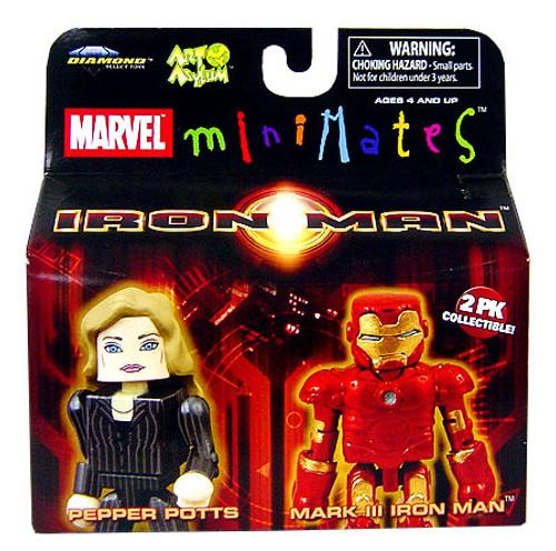 Marvel Minimates Iron Man Movie Pepper Pots & Mark III Iron Man Minifigure 2-Pack