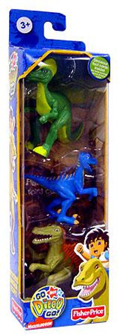 Fisher Price Go Diego Go! Cretaceous Dinosaurs Mini Figure 3-Pack