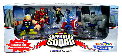Marvel Super Hero Squad Avengers Face-Off Exclusive Action Figure Set