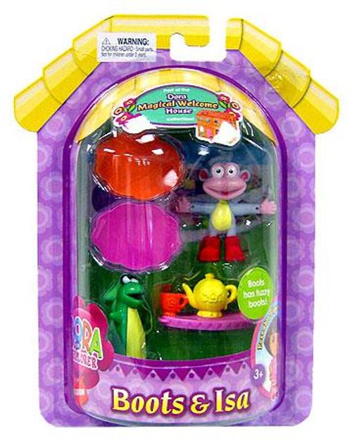 Fisher Price Dora the Explorer Magical Welcome House Boots & Isa Mini Figure 2-Pack