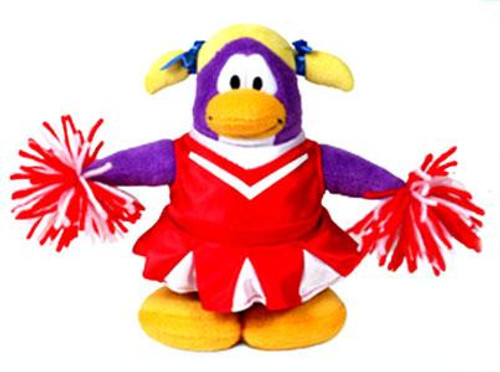 Club Penguin Series 1 Cheerleader 6.5-Inch Plush Figure [Red Outfit]
