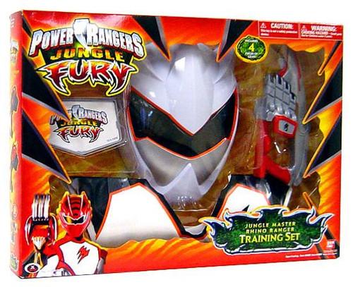 Power Rangers Jungle Fury Jungle Master Rhino Ranger Training Set Roleplay Toy
