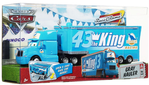 Disney Cars The World of Cars Race-O-Rama The King's Gray Hauler Diecast Car Playset