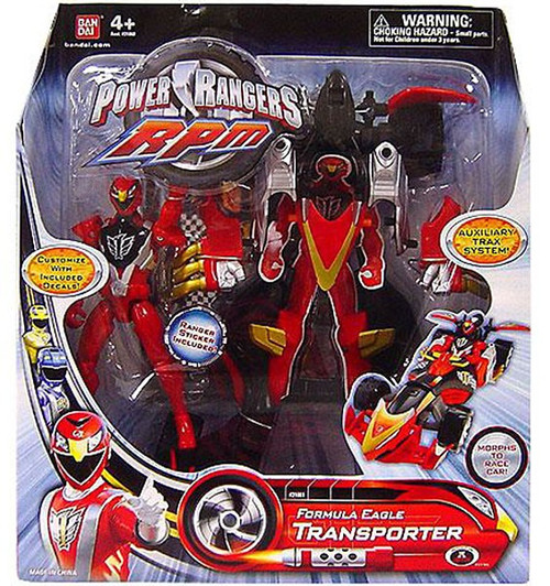 Power Rangers RPM Auxilliary Trax Formula Eagle Transporter Action Figure